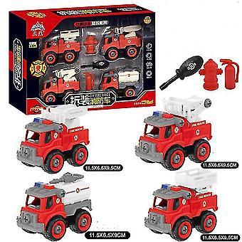Copoz Lasten tee-se-itse Koottu leluautolaatikko suunnittelu kuorma-auto paloauto puskutraktori kaivinkone