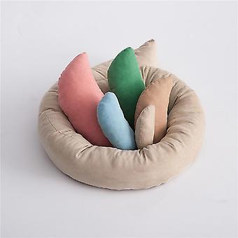 Baby Crescent Shaped Pillows & Positioner Cushion Basket Filler