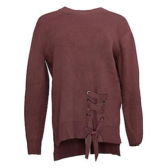 G By Giuliana Women's Sweater Lace-Up Detail Pullover Purple 637346
