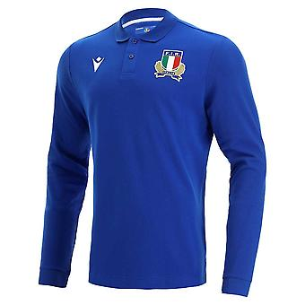 2021-2022 Italy Home LS Cotton Rugby Shirt