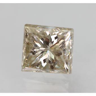 معتمد 0.54 قيراط J VS2 الأميرة تعزيز الماس فضفاضة الطبيعية 4.33x4.08mm