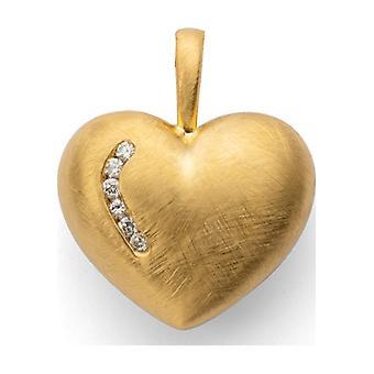 Bastian Inverun - Anhänger - Silber vergoldet - 6 Diamanten - mattiert - 38990