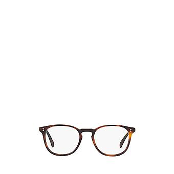 Eyeglasses oliver peoples ov5298u semi matte dark mahogany unisex eyeglasses 49 brown