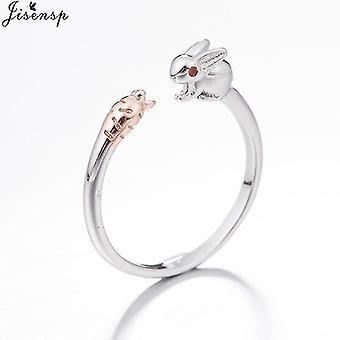 Minimalistisch verstellbarer Silberschmuck geometrische Ringe für Frauen (Syjz176)