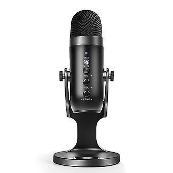 Multifunktionales USB-Kondensatormikrofon für Computer, Gaming, Streaming und Podcasting mit