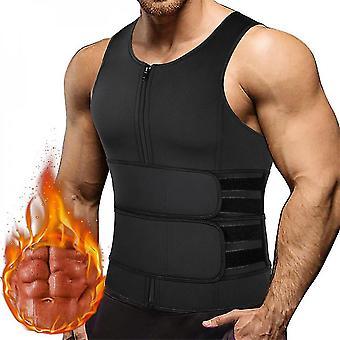 Men Shapewear Waist Trainer Sweat Vest Sauna Suit Workout Shirt Slimming Body Shaper For Weight Loss