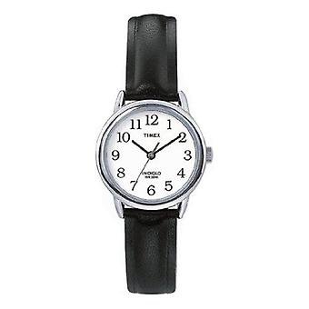 Timex T20441 Frauen schwarzes Leder Armbanduhr