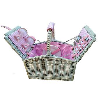 2 quinta pessoa equipado rosa verificado cesto forrado