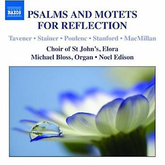 Crotch/Eccard/Macmillan/Atkins/Tavener/Poulenc/Ros - Psalms and Motets for Reflection [CD] USA import