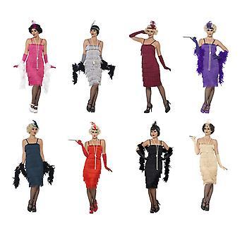 Charleston 20 kostium frędzlami sukienki kobiety sukienka mafia kolację murder mystery