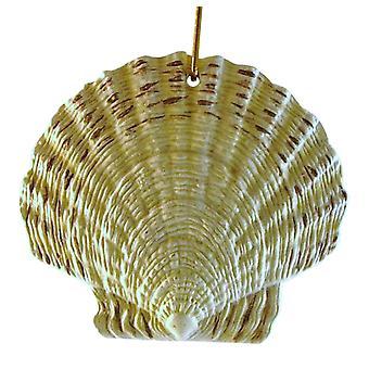 Nautical Beach Sea Shell Christmas Ornament White 4 Inches ORNShell01