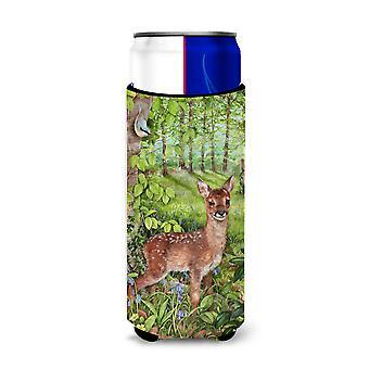 European Roe Deer Fawn Ultra Beverage Insulators for slim cans