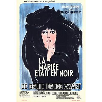 The Bride Wore Black filmposter (11 x 17)