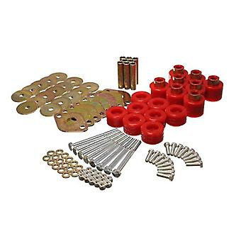 Energy Suspension 2.4112R Body Mount Set Red 1 in. Lift Includes Hardware Body Mount Set