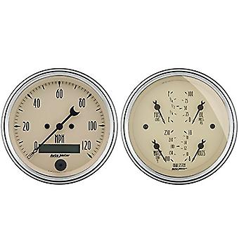 1800 antiguo Beige calle Rod Kit de auto Meter