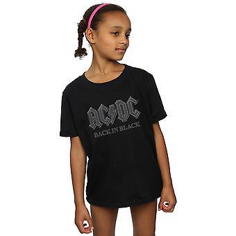 AC/DC raparigas nos t-shirt preta