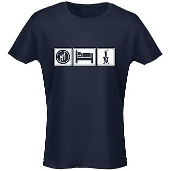 Eat Sleep Rugby Womens T-Shirt 8 Colours (8-20) by swagwear