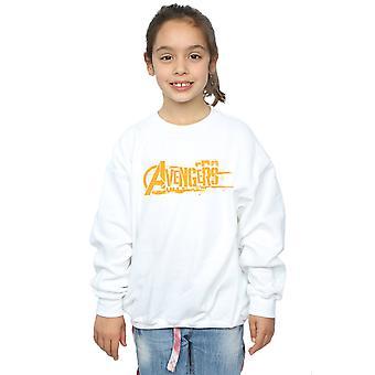 Marvel Girls Avengers Infinity War Orange Logo Sweatshirt