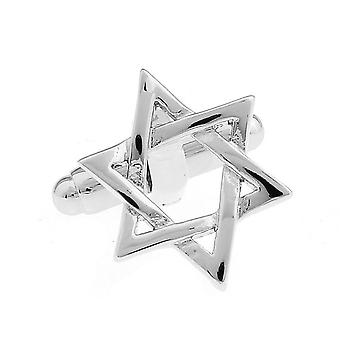 Star Of David Cufflinks Silver Tone Perfect For Special Occasions