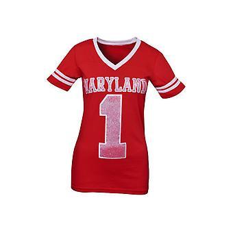 Maryland Terrapins NCAA Press Box V-Neck Jersey Tee