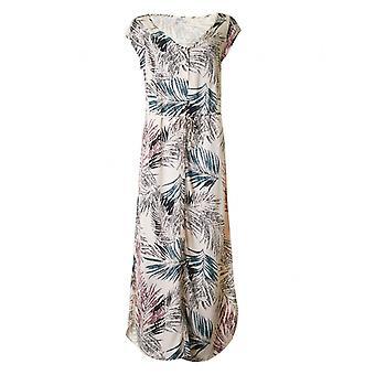 サン ・ トロペ パーム プリント ロング ドレス