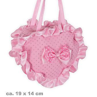 Prinsesser taske pink heart taske