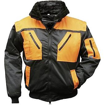 L+D Griffy 4208 4-in-1 Multi-Functions-Pilot jacket with warning effect. Black, Orange XXXL
