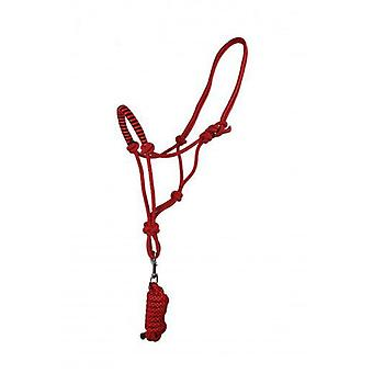 QHP Ramal halter rope with Full Fiery Red