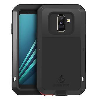 Love Mei powerful hybrid shockproof case Galaxy A6Plus, screen protector - Black