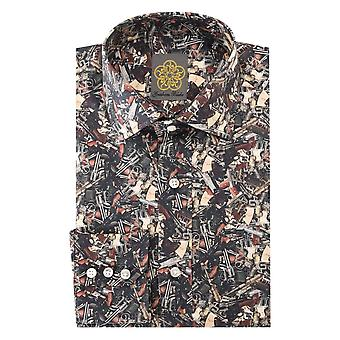 Gresham Blake Broken Guns Print Mens Shirt