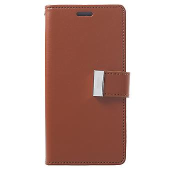 Mercury GOOSPERY Rich Diary till Samsung Galaxy S9 - Brun