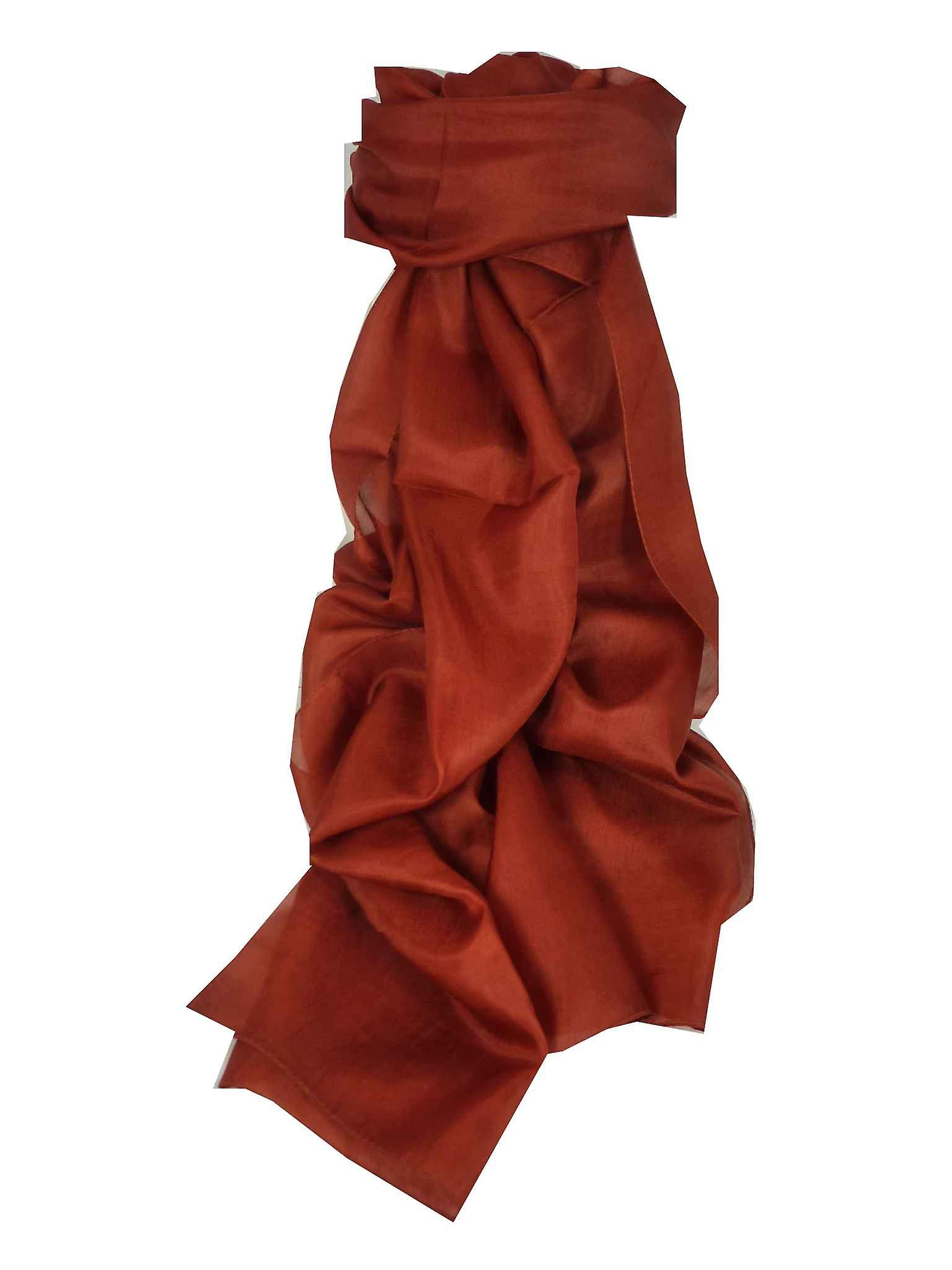 Mulberry Silk Hand Dyed Long Scarf Tuscany from Pashmina & Silk