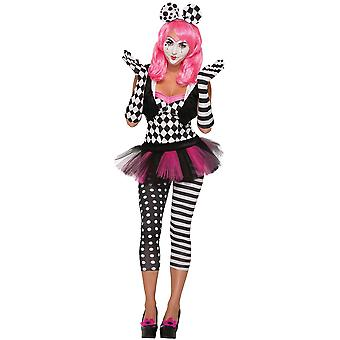 Harlekin Clown Handschuhe