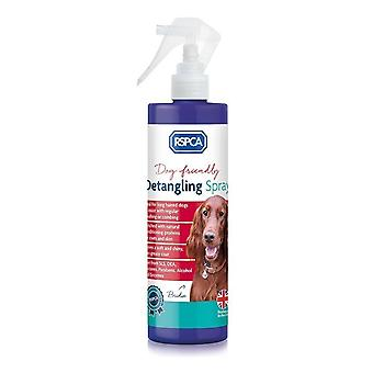 RSPCA Detangling Spray 250ml - removes knots and tangles in heavy coated dogs