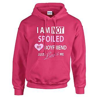 Hot Pink ich meinen Freund nicht gerade verwöhnt bin liebt mich Hoodie