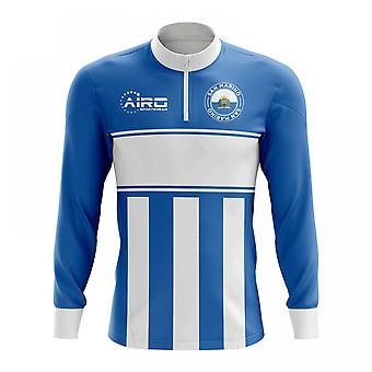 سان مارينو لكرة القدم مفهوم الرمز البريدي نصف ميدلايير الأعلى (أزرق-أبيض)