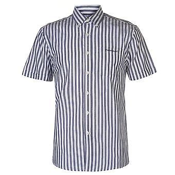 Pierre Cardin męskie myte pasek Krótki rękaw koszuli dorywczo szczyty