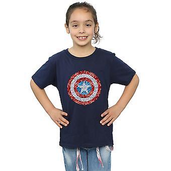 Marvel meisjes Captain America korrelig Shield T-Shirt