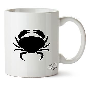 Hippowarehouse Crab Printed Mug Cup Ceramic 10oz