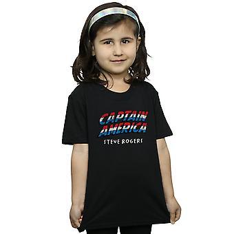 Marvel Mädchen Captain America AKA Steve Rogers T-Shirt