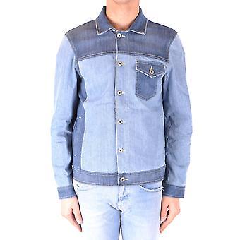 Dondup Ezbc051107 Men's Blue Cotton Outerwear Jacket