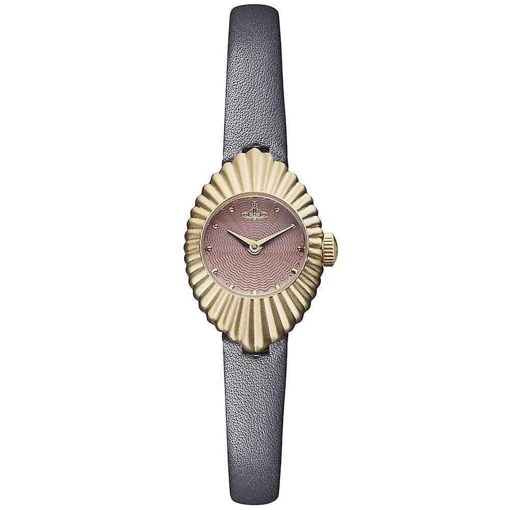 Vivienne Westwood Vv096rsgy Concertina Rose Gold & Grey Leather Ladies Watch