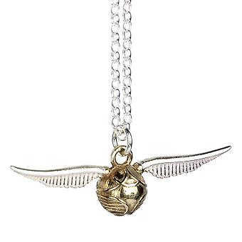Harry Potter sterlinghopea kultainen Snitch Charm kaula koru