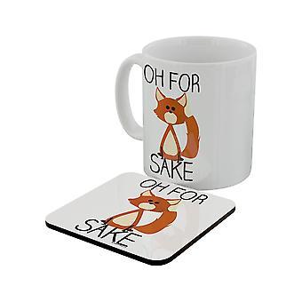 Grindstore Oh Fox sake muki & Coaster Set
