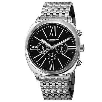 Akribos XXIV hommes quartz multifonction mat cadran bracelet montre AK636SSB