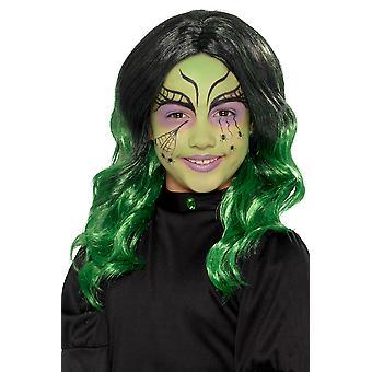 Peluca de bruja infantil carnaval Halloween niños accesorio peluca de bruja