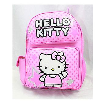 Medium Backpack - Hello Kitty - Pink Stars & Dot New School Bag 81398