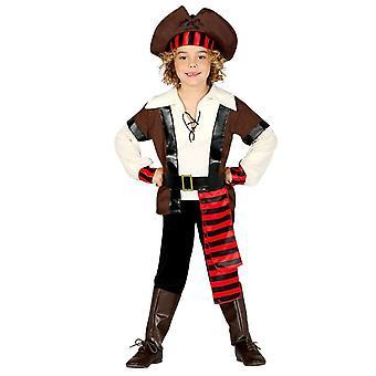 Boys Seven Seas Caribbean Pirate Fancy Dress Costume