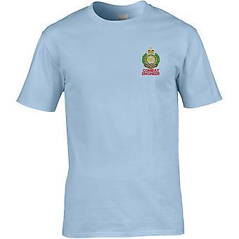 Royal Engineers Combat Engineer-lisensiert British Army brodert Premium T-skjorte