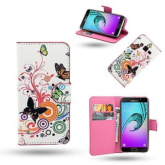 Samsung Galaxy A5 2016-cases/wallet in leather-butterflies
